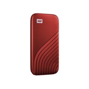 WD My Passport SSD rot seitlich-links