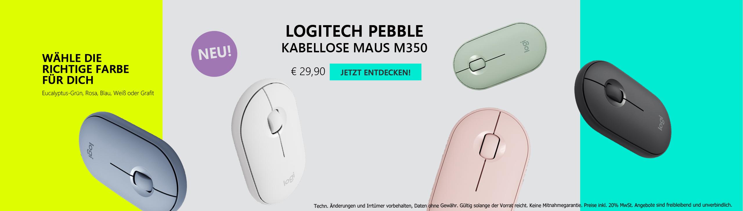 Banner Logitech Pebble