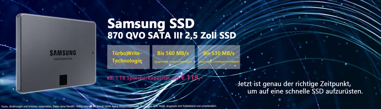 Banner Samsung QVO 870 SSD