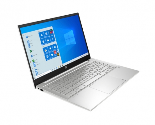 HP Pavilion 14-dv0052ng silber -seitlich-links