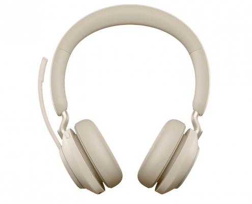 Jabra Evolve2 65 MS Stereo beige -vorne