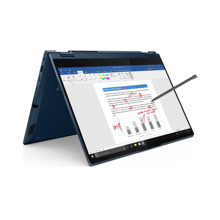 Lenovo ThinkBook 14s Yoga Abyss Blue -Zeltmodus