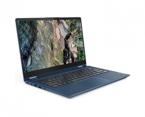 Lenovo ThinkBook 14s Yoga Abyss Blue -seitlich-links