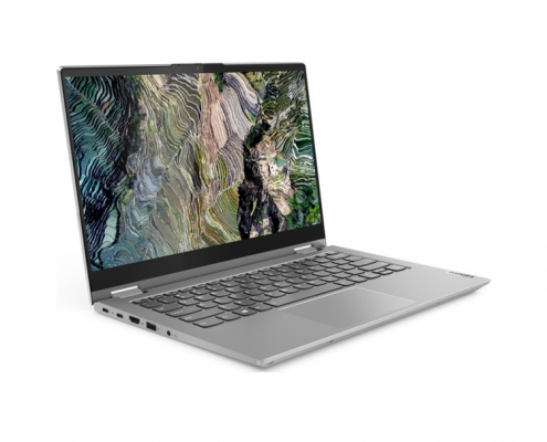 Lenovo ThinkBook 14s Yoga Mineral Grey -seitlich-links