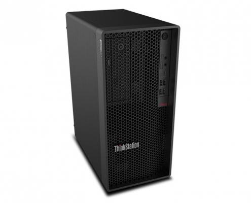 Lenovo ThinkStation P340 Tower seitlich-links