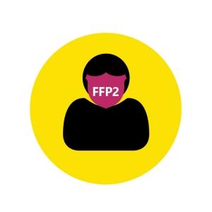 Piktogramm FFP2-Maske tragen