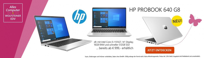 Banner HP Probook 640 Modell G8 03 2021