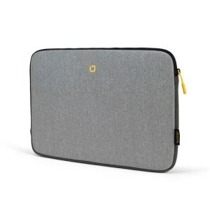 Dicota Skin FLOW Sleeve 15 grau-gelb -seitlich
