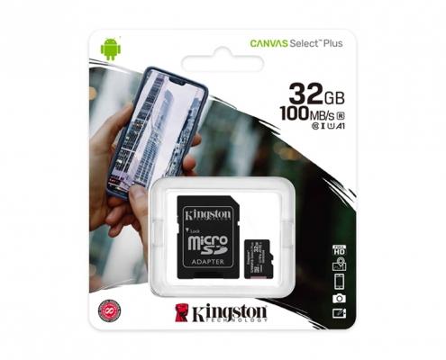 Kingston Canvas Select Plus microSDXC 32GB Kit -Boxshot