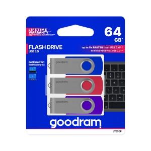 goodram USB Stick 64GB 3er Pack UTS3-3P
