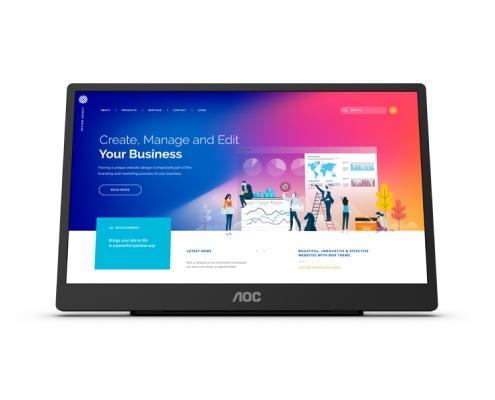 AOC 16T2 Tragbarer Touch-Monitor