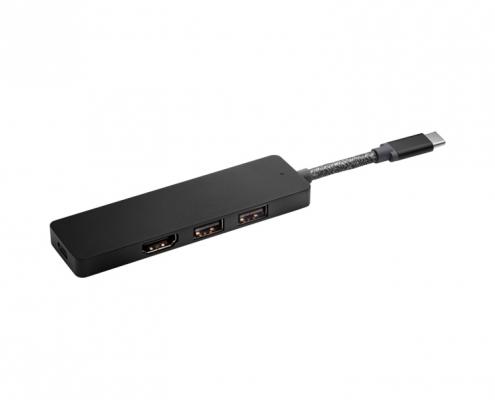 HP Elite USB-C Hub -seitlich
