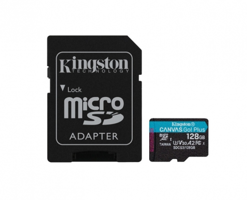 Kingston Canvas Go Plus microSDXC 128GB Kit