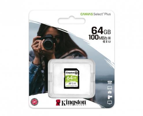 Kingston Canvas Select Plus SDHC 64GB -Boxshot