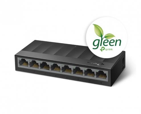 TP-Link LS1008G LiteWave Gigabit Switch -seitlich rechts
