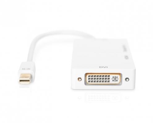 ednet Adapter 3in1 mini Displayport - DP HDMI DVI ED-84511 -Detail
