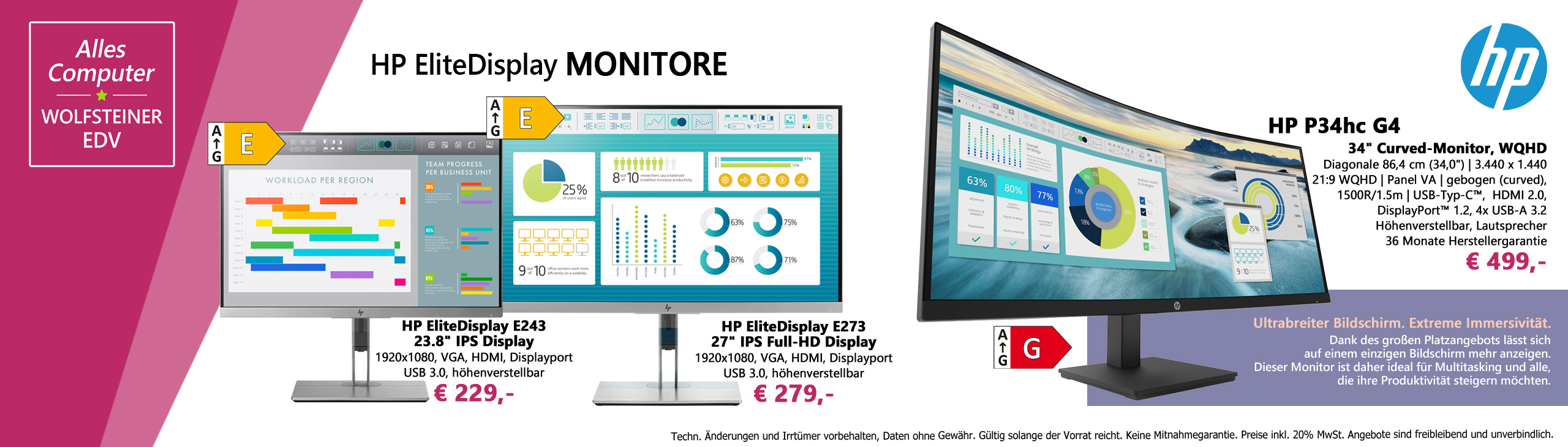 Banner HP Monitore 052021