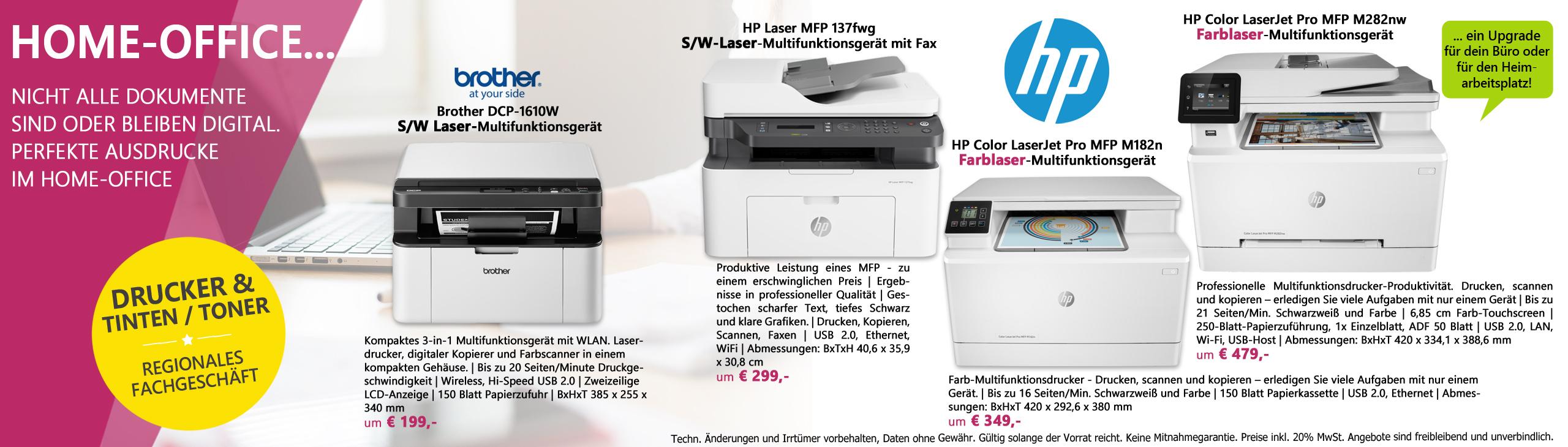 Banner homeoffice laserdrucker 052021