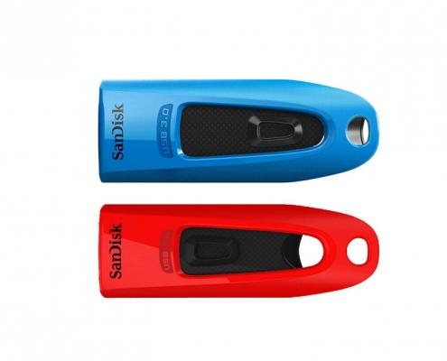 SanDisk Ultra 2er Pack 32GB -blau und rot