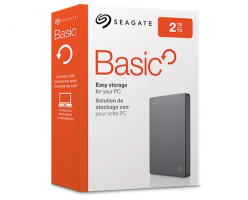 Seagate Basic Externe Festplatte -Boxshot 2TB