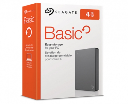Seagate Basic Externe Festplatte -Boxshot 4TB