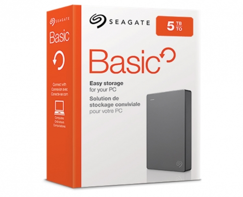 Seagate Basic Externe Festplatte -Boxshot 5TB