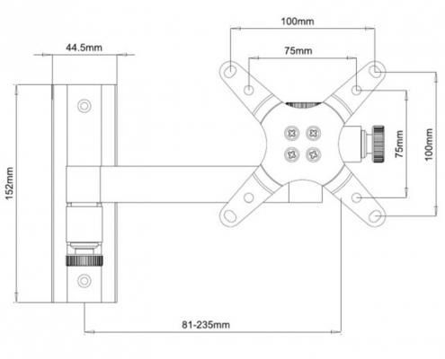TECHly ICA-LCD-105BK -Zeichnung