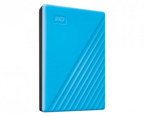 WD My Passport Portable blau -seitlich links