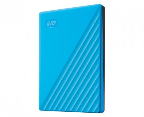 WD My Passport Portable blau -seitlich rechts