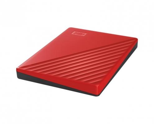 WD My Passport Portable rot -seitlich vorne