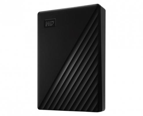 WD My Passport Portable schwarz -seitlich rechts