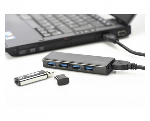 ednet USB 3.0 Hub 4-Port -Anwendungsbeispiel