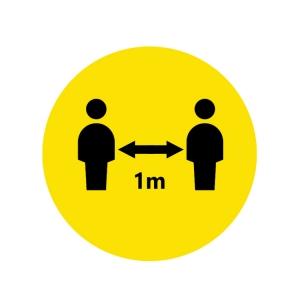 Piktogramm Bitte Abstand halten 1m