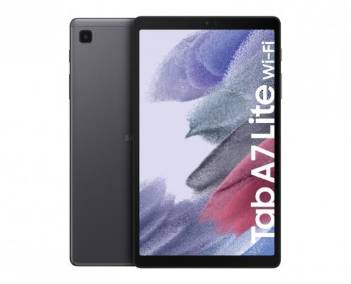 Samsung Galaxy Tab A7 Lite T220 T225 dark gray -vorne und hinten