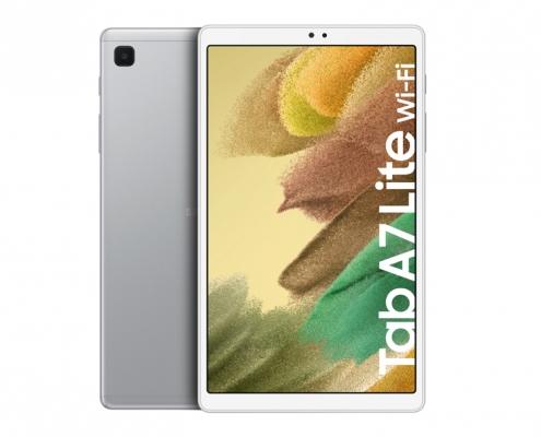 Samsung Galaxy Tab A7 Lite T220 T225 silver -vorne und hinten