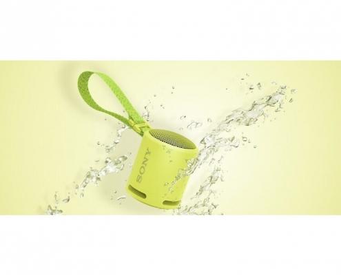 Sony SRS-XB13 lemon yellow -splash