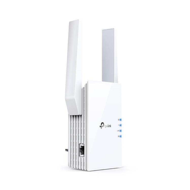TP-Link RE605X AX1800 Wi-Fi 6 Range Extender -seitlich links