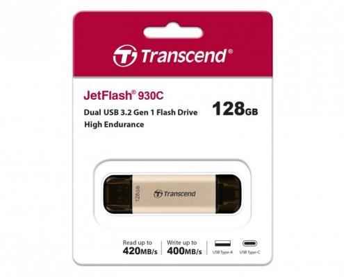 Transcend JetFlash 930C Dual gold -Boxshot
