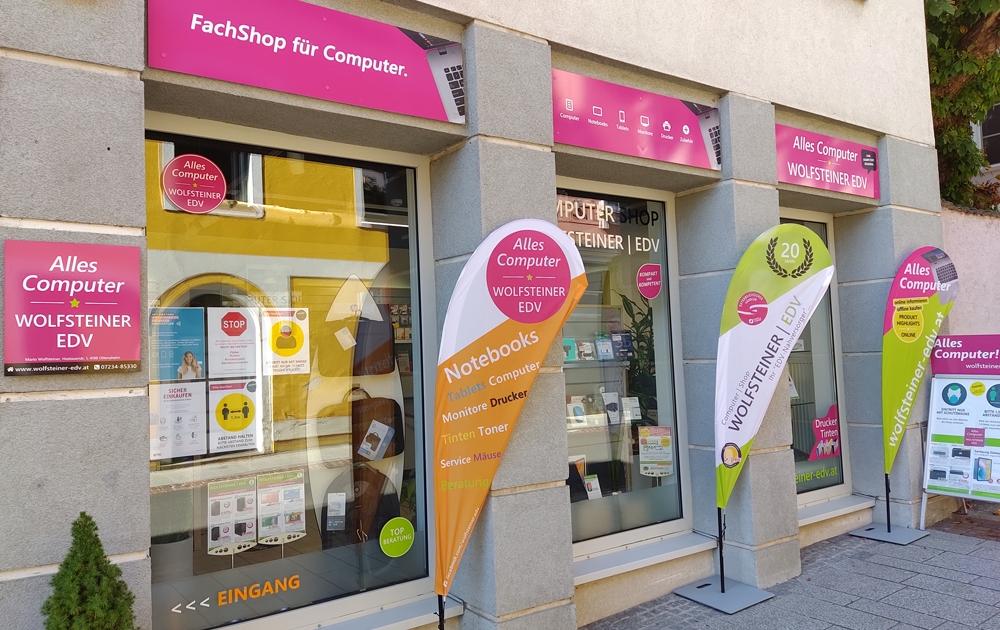 Aussenansicht unseres Shops in Ottensheim