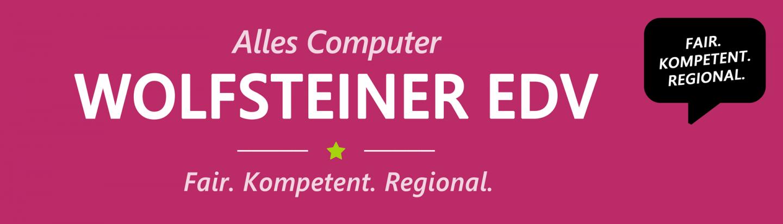 rosa Banner Alles Computer Wolfsteiner-EDV - Fair. Kompetent. Regional.