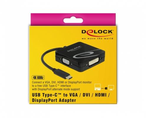 Delock 63959 USB Type-C auf VGA DVI HDMI Displayport Adapter -Boxshot