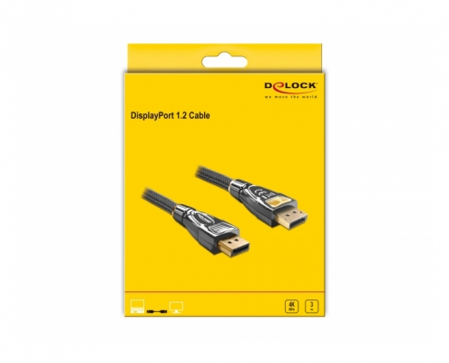 Delock Premium Displayport Kabel 3m 4K 82772 -Boxshot
