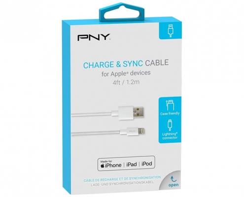 PNY Lightning Charge and Sync Kabel 1.2m -Boxshot