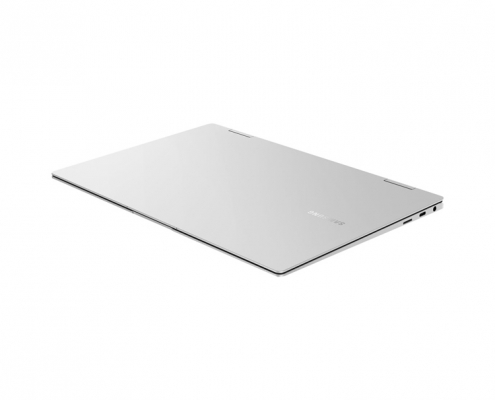 Samsung Galaxy Book Pro 360 13 Mystic Silver -flach liegend