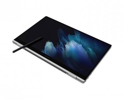 Samsung Galaxy Book Pro 360 15 Mystic Silver -Tabletmodus mit Pen