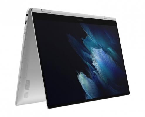 Samsung Galaxy Book Pro 360 15 Mystic Silver -Zeltmodus