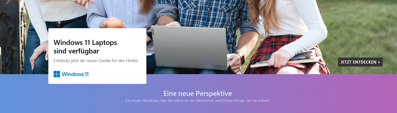 Banner Windows 11 Laptops Herbst 2021