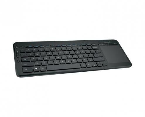 Microsoft All-in-One Media Keyboard -seitlich