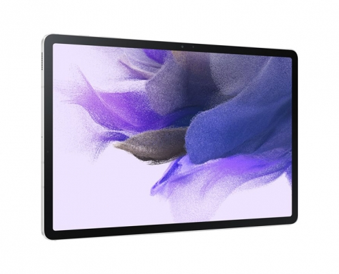 Samsung Galaxy Tab S7 FE T733 T736 Mystic Silver -seitlich links